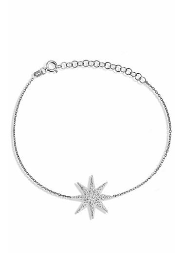 Argentum Concept Zirkon Taşlı Gümüş Kutup Yıldızı Bileklik - B048901 Gümüş